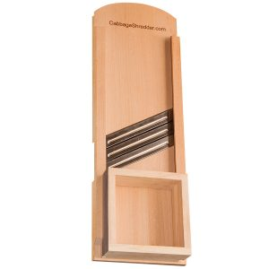 Professional wooden cabbage shredder with three steel blades