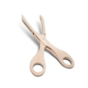 wooden tongs with scissors style handles